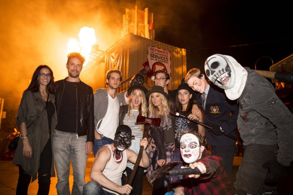 ashley tisdale with christopher french samantha droke shelley buckner and other friends at the - Ashley Tisdale Halloween