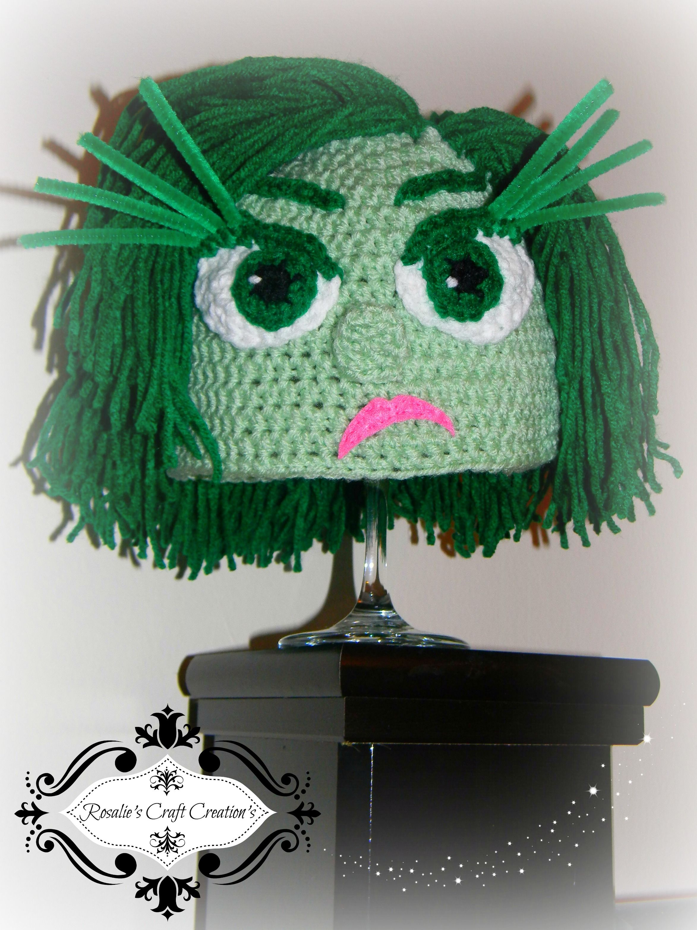 Crochet Hat Disgust from inside out | Crochet hat patterns ...