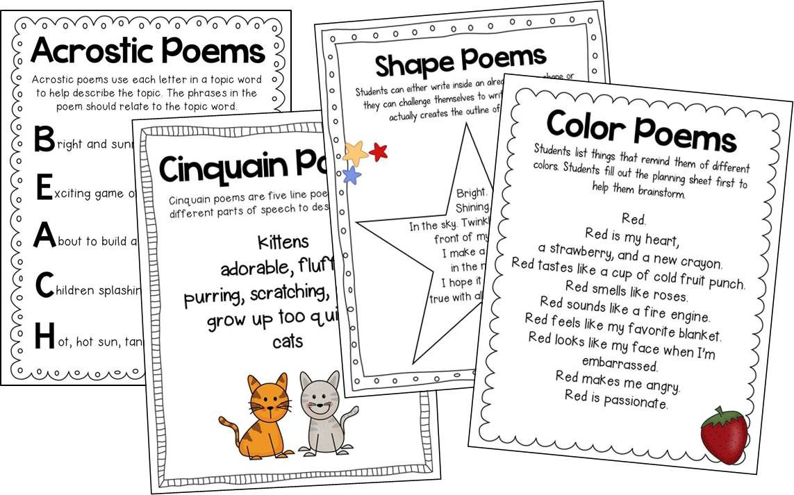 T.G.I.F! - Thank God Its First Grade!: Writing Poetry in ...
