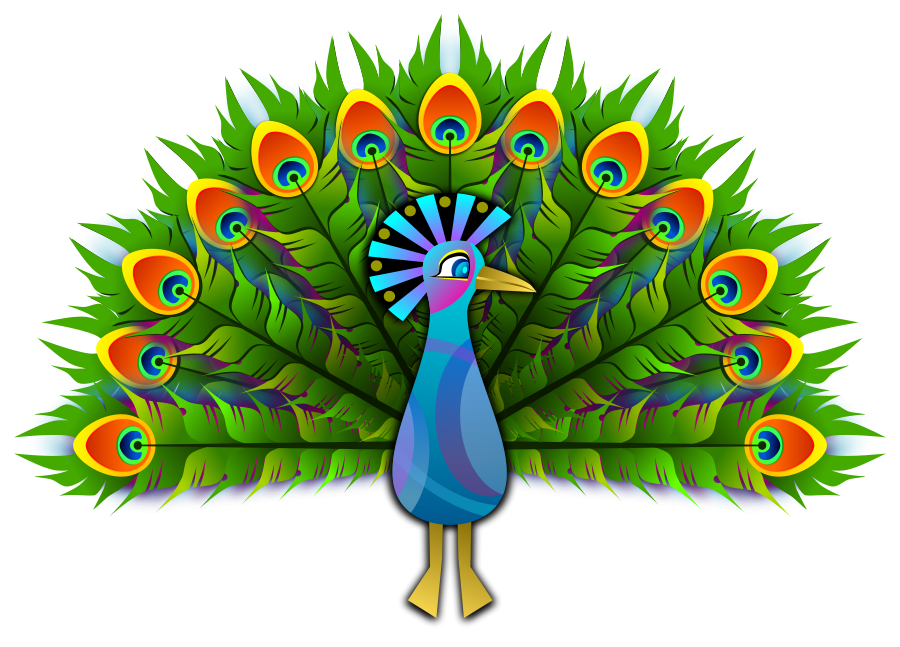 peacock feather clipart vector clip art online royalty free rh pinterest com free black and white peacock clipart peacock clipart free download