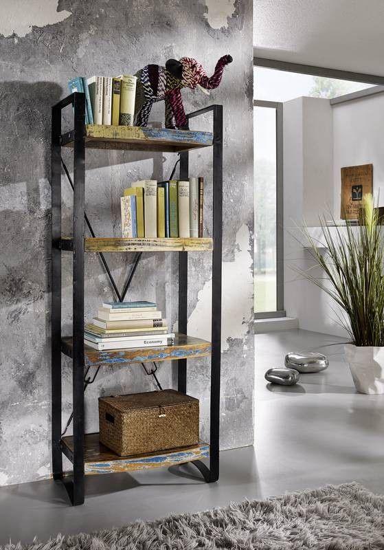 INDUSTRIAL Regal #45, Eisen u Altholz Jetzt bestellen unter - wohnzimmer regale design
