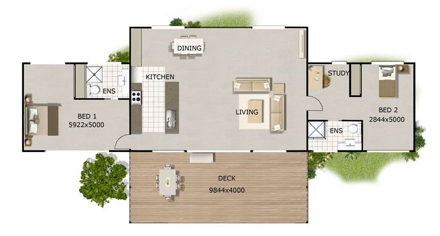 Mountainview Single Level Open House Plans House Plans Australia Kit Homes Australia