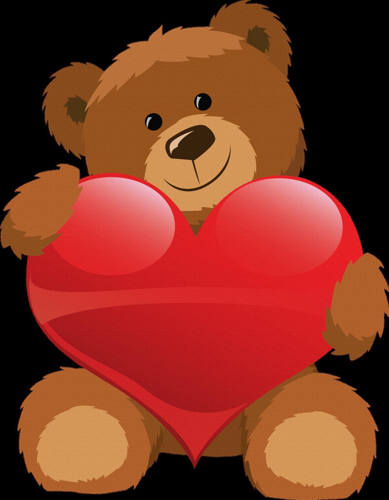 Oso con corazon para imprimir | Para: K P N O :=) | Pinterest | Oso ...