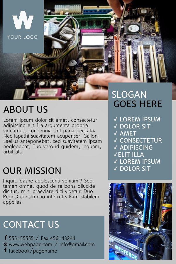 computer repair shop advertisement poster