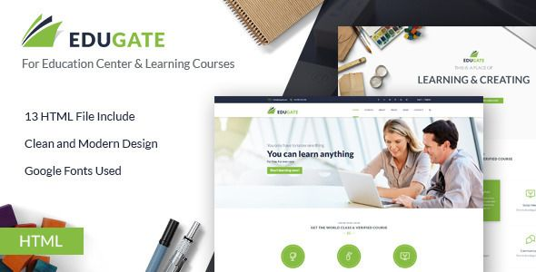 Education HTML template | EduGate Education | Student studying ...