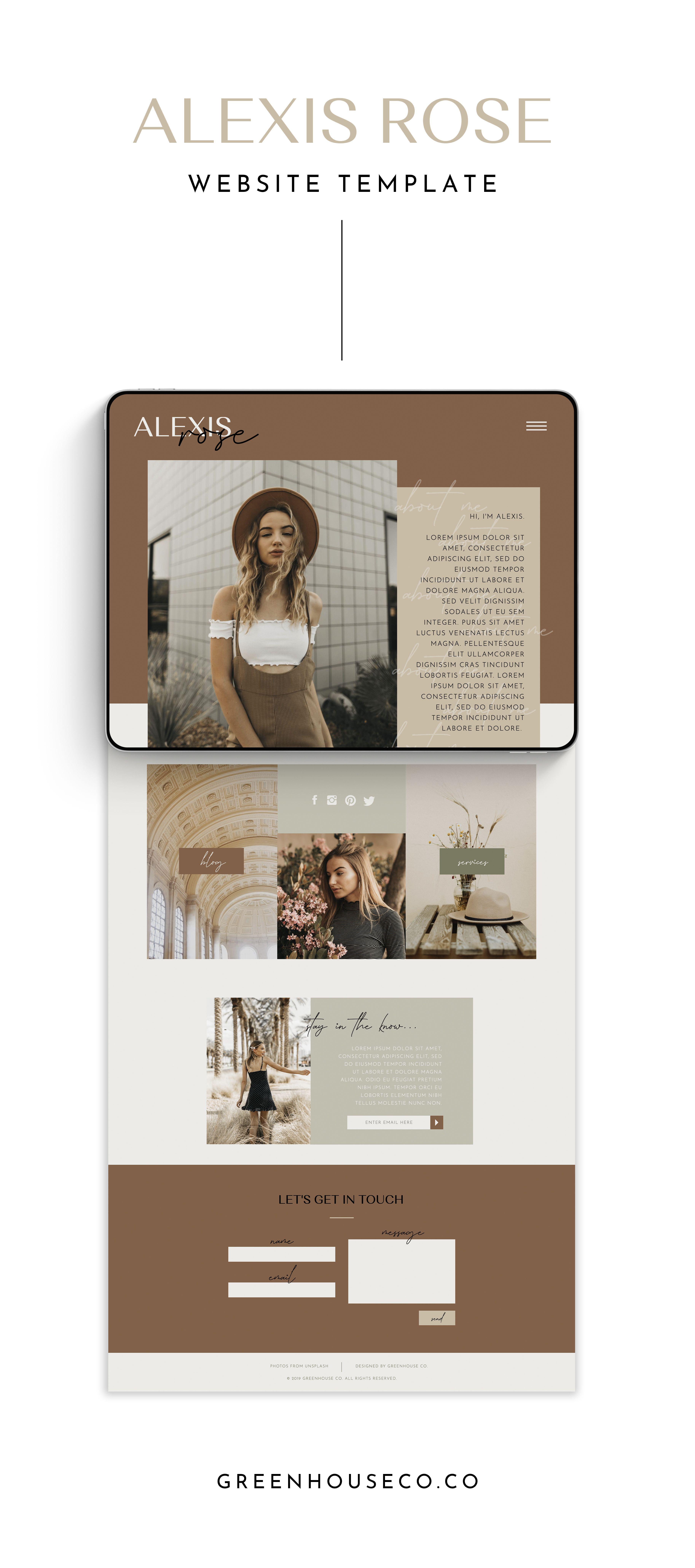 Alexis Rose Easy To Use Website Templates Website Design Inspiration Business Website Design Small Business Website Design