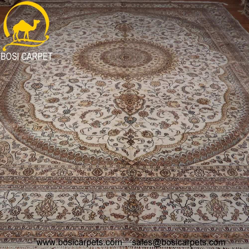 Hand knotted silk rug # Rug No.: P4036# Quality: 150L (156kpsi) # Size: 10x14ft (305x427cm) # Material: 100% Silk # wholesale Price: $2240/piece # If you have any interests, please email to sales@bosicarpets... handmadesilkcarpet#handmaderug#silkrug#silkcarpet#carpet#persiancarpet#persianrugs#rug#handmaderug#handknottedrug#iranrug#chineserug#turkeyrug#turkishcarpets#silkcarpets#silk#floorrug#hali#ipekhai#redrug#bluecarpet#turleycarpet