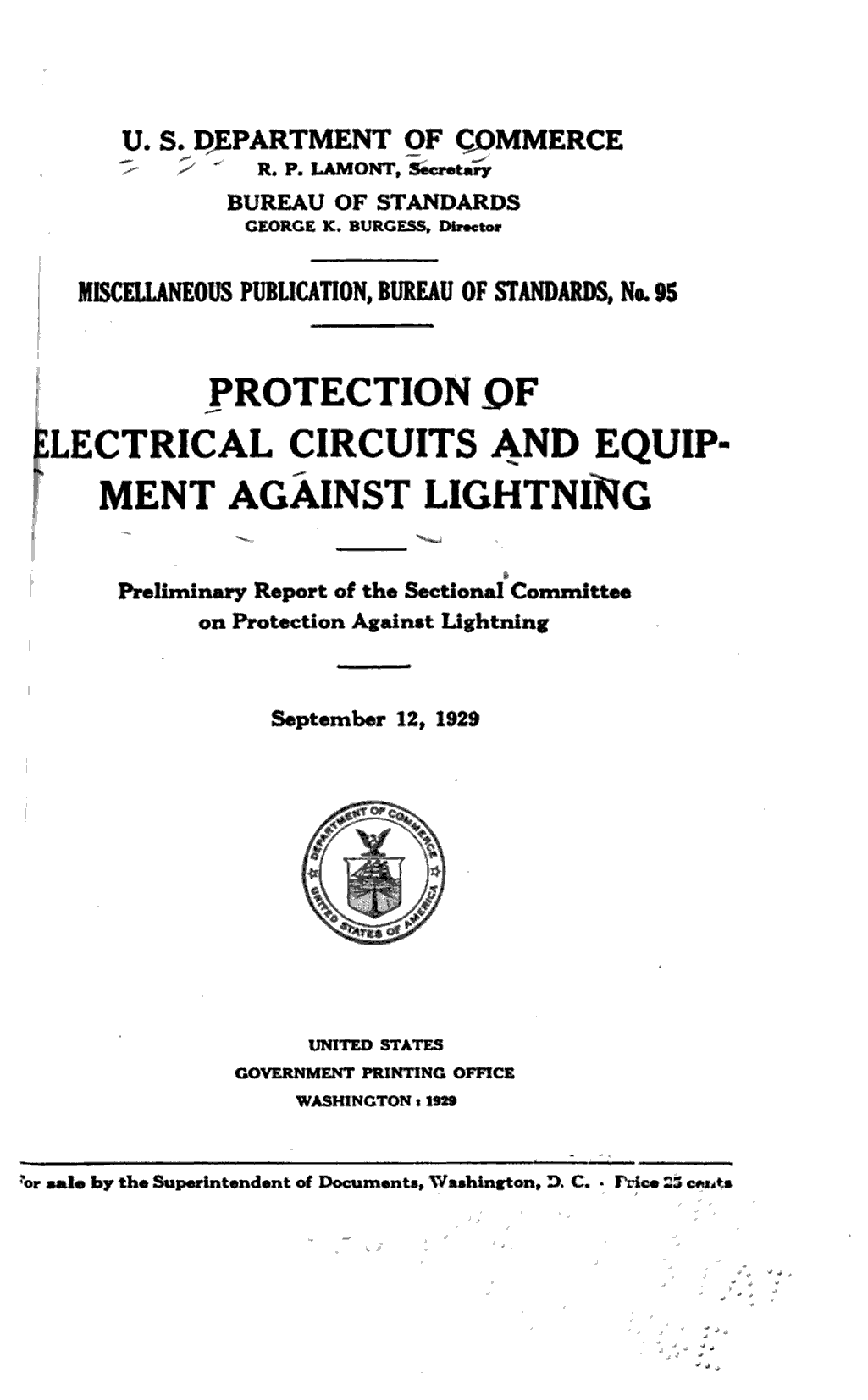 Protection of electrical circuits and equipment against lightning
