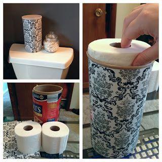 Fashionably Hide Your Toilet Paper Toilet Paper Storage Toilet