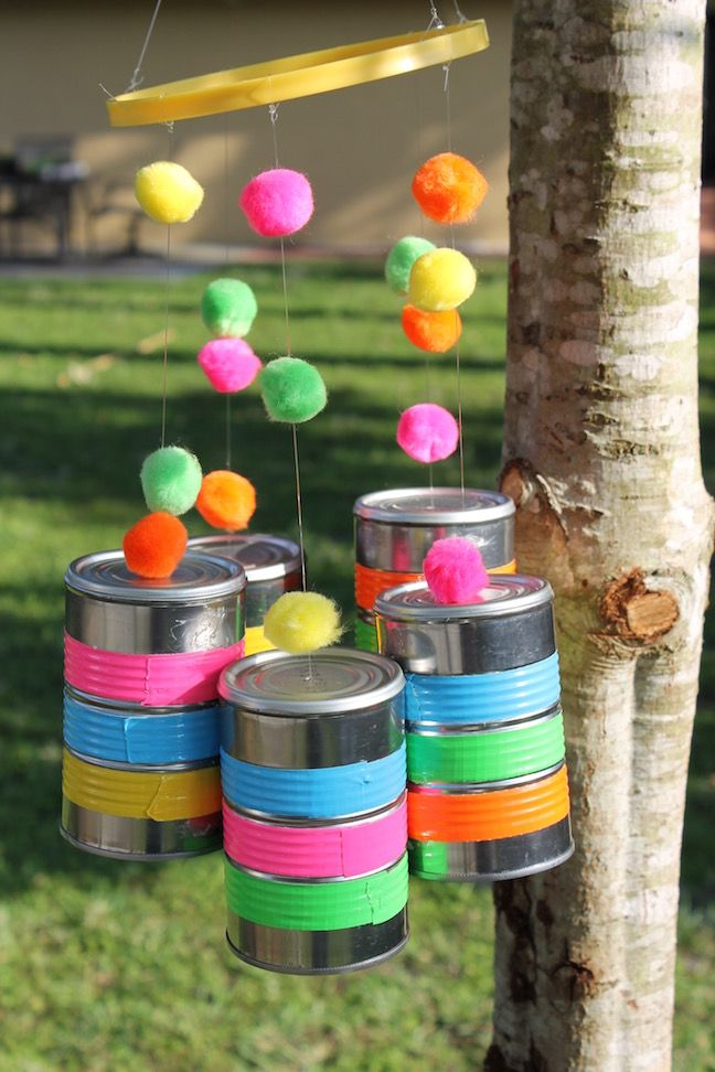 Diy Wind Chimes Made From Recycled Tin Cans Diy Wind Chimes