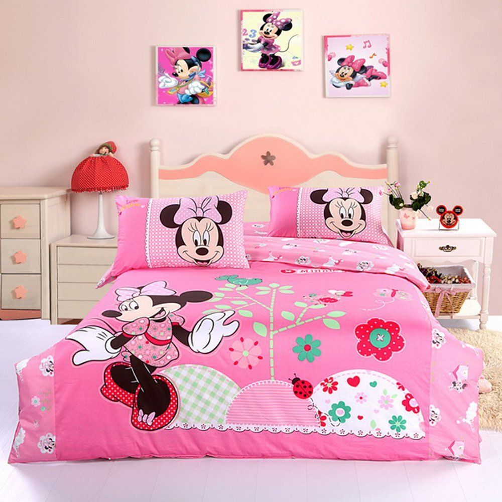Nice Cute Minnie Mouse Bedding Set Pink