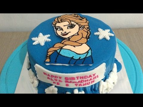How To Make A Butter Cream Cake Transfer Youtube Elsa