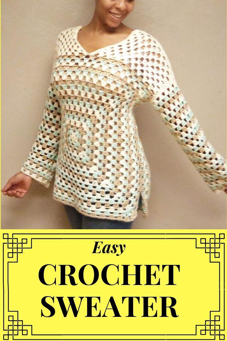 Crochet Oversized Sweater Pattern for Beginners > Littlejohn's Yarn