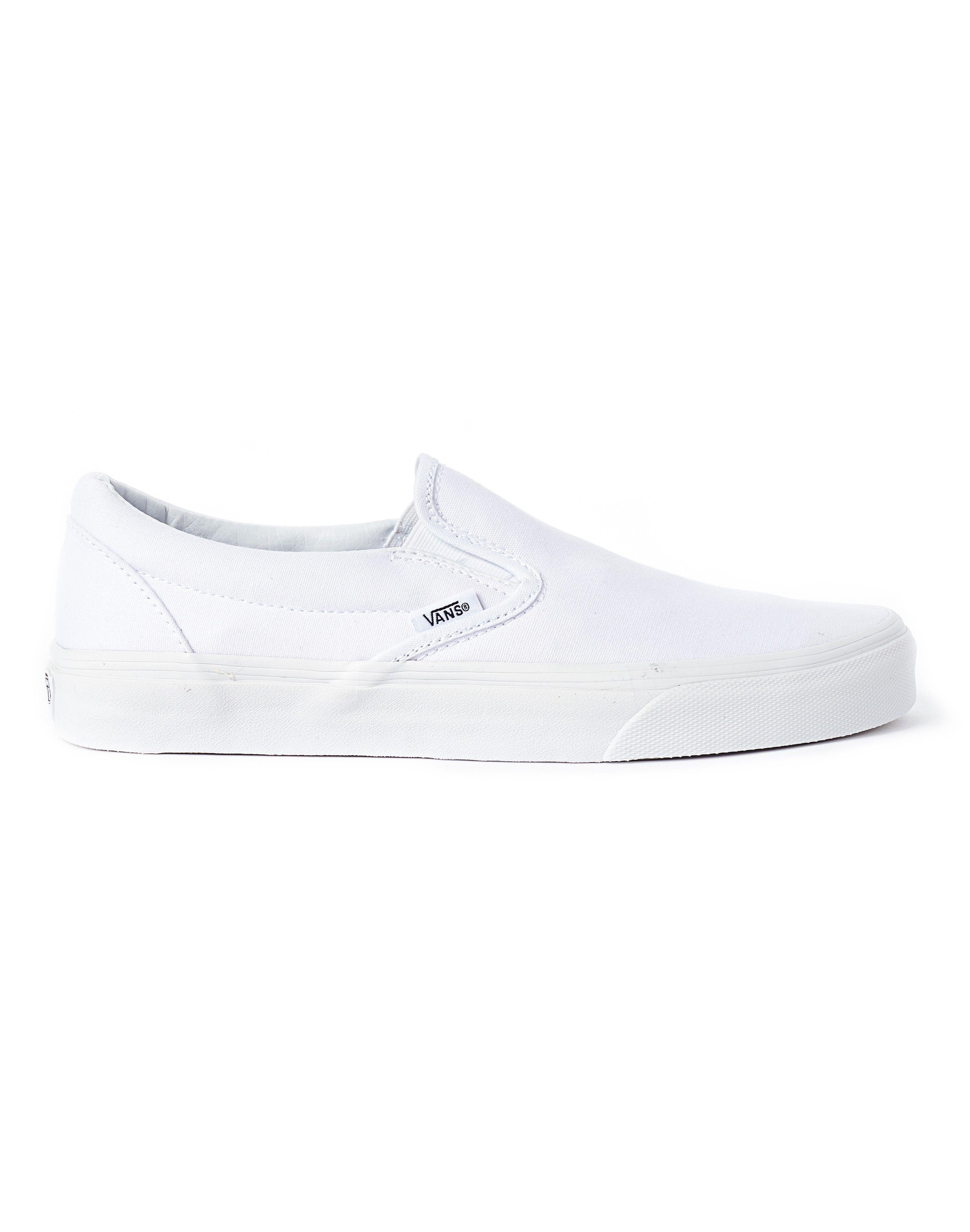 White slip on vans, Plimsolls