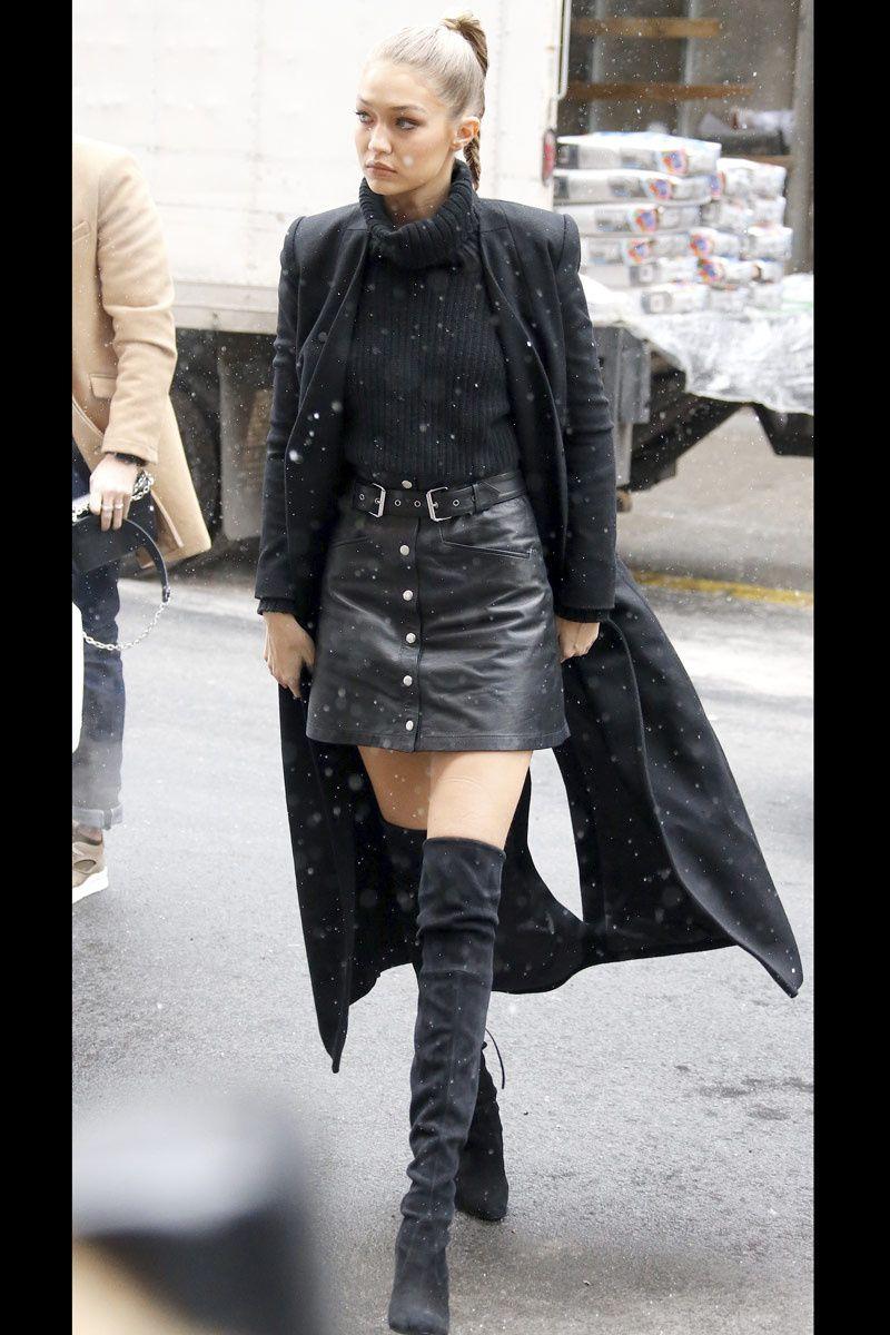 Con bermudas o minifalda Over the knee boots