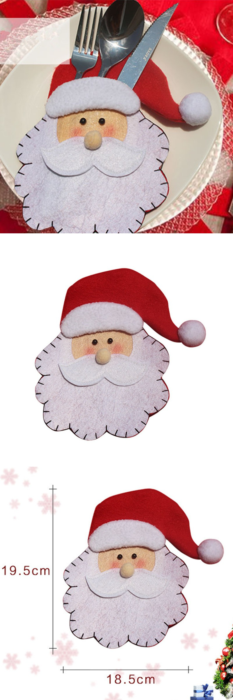 santa claus head cutlery creative home gifts bags christmas gifts factory outlets christmas decoration home decor - Christmas Decorations Factory Outlet