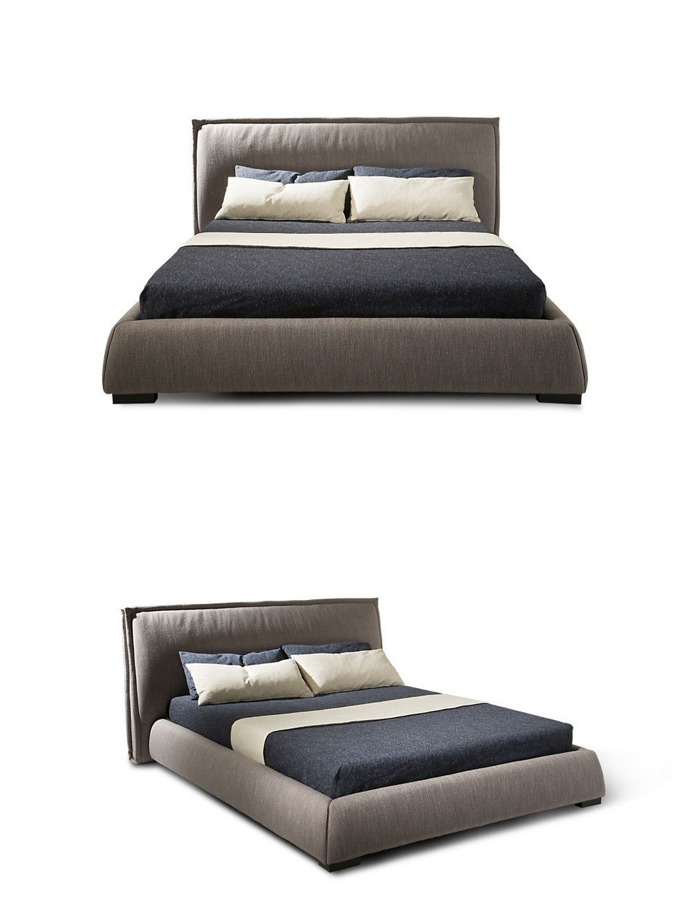Modern Double Simple Bed Design Furniture Wooden New Design Modern
