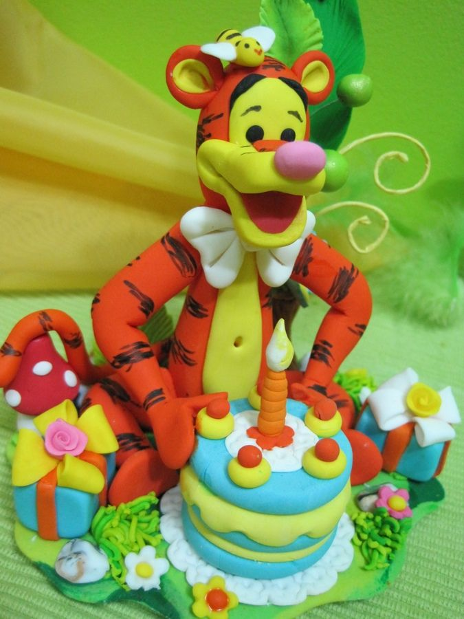 Tigger Birthday Cake Topper So Cute Winnie The Pooh Themes