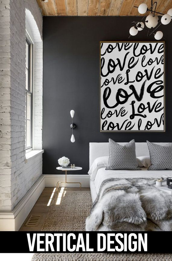 Modern love script art large home decor print in 2019 - What does it take to be an interior designer ...