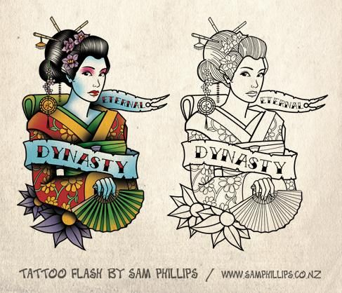 Geisha Tattoo - Sam Phillips - Artist . Illustrator . Graphic Designer