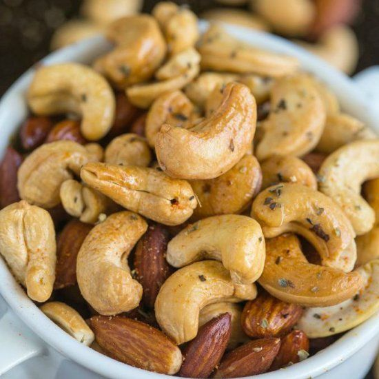 Those delicious warm nuts served on airplanes and fine dining restaurants? Tested out 3 ways- Slow cooker, roasted and pan grilled!