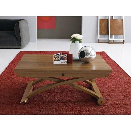 Tavolino sollevabile estensibile Lift Wood Vintage