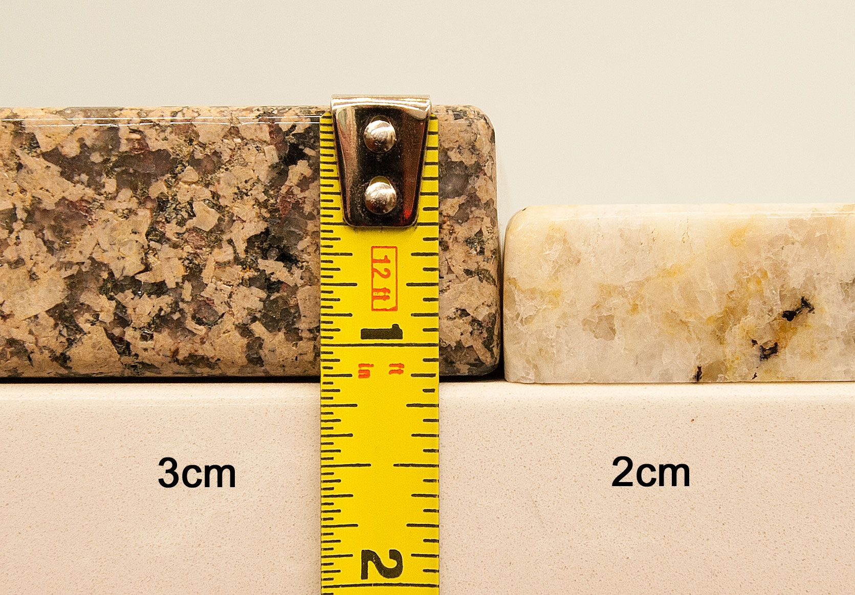 What Is The Difference Between 2 Cm And 3cm Granite Material In Inches