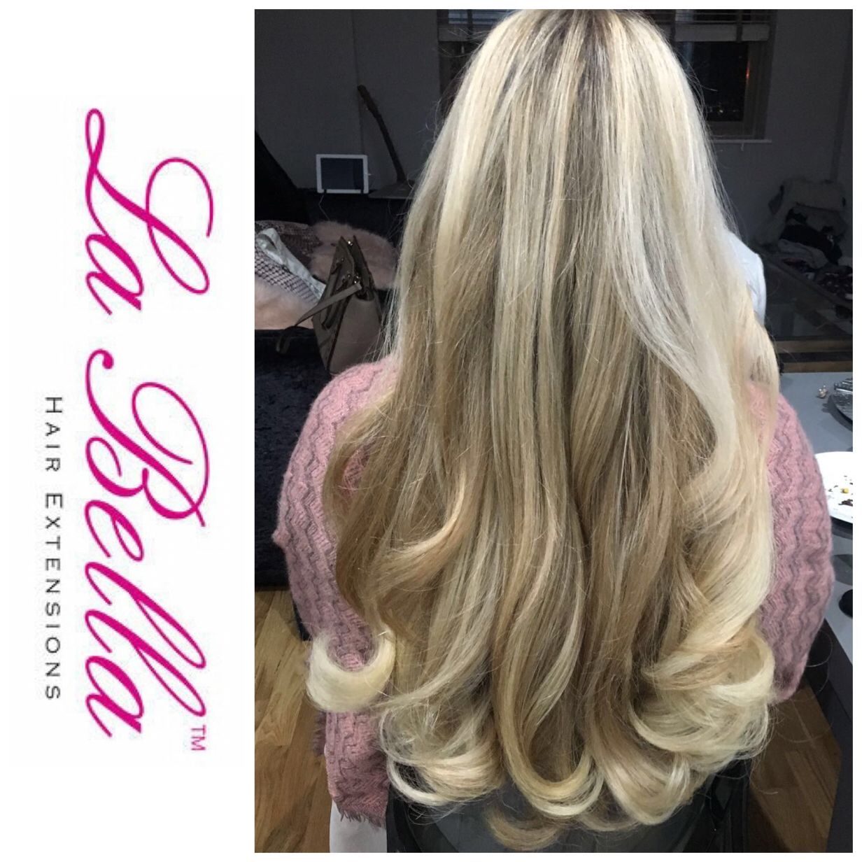 Love this photo of our la bella hair extensions after a bouncy hair coloring pmusecretfo Images