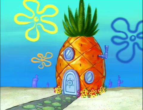 Spongebob S House Spongebob House Spring Painting Spongebob