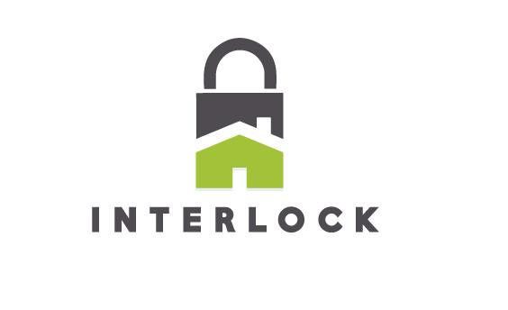 Home Security System Logo Design For Interlock By The Logo Boutique Security System Logo Branding Design Packaging Real Estate Logo Design
