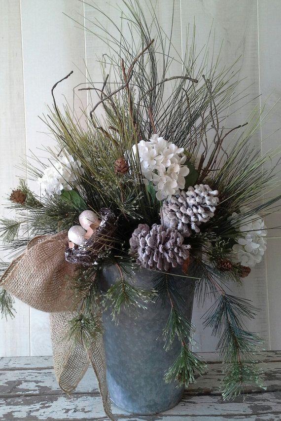 Winter arrangement Flower Arrangement Christmas by 6miles