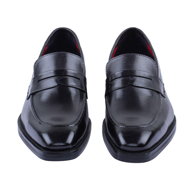 Penny Slip On Loafers Black Loafers Black Dress Shoes Men Loafers [ 1500 x 1500 Pixel ]