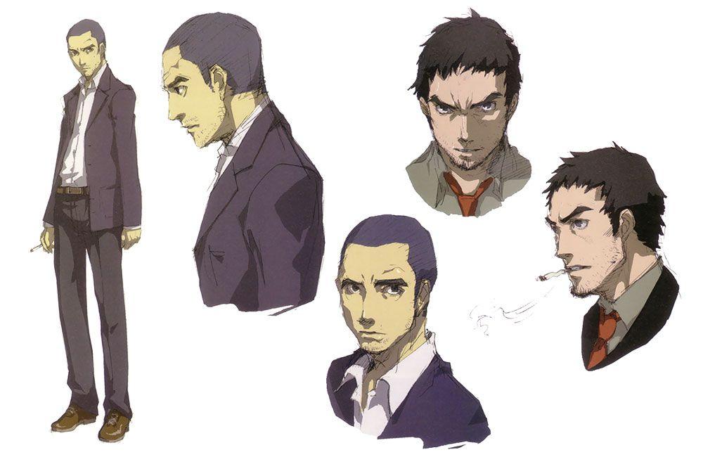 Persona 4 Anime Characters : Ryotaro dojima concepts characters art persona