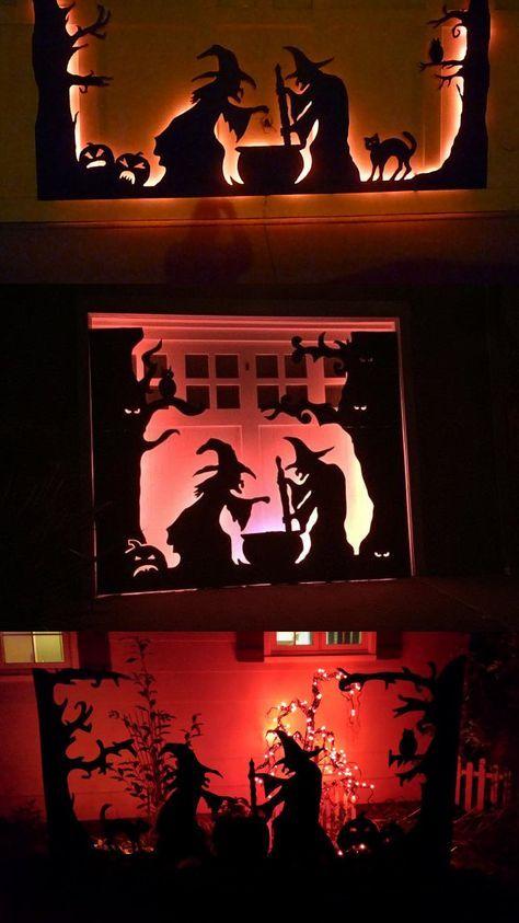 Halloween Garage Door Silhouette Pinterest Witches, Halloween - halloween garage ideas