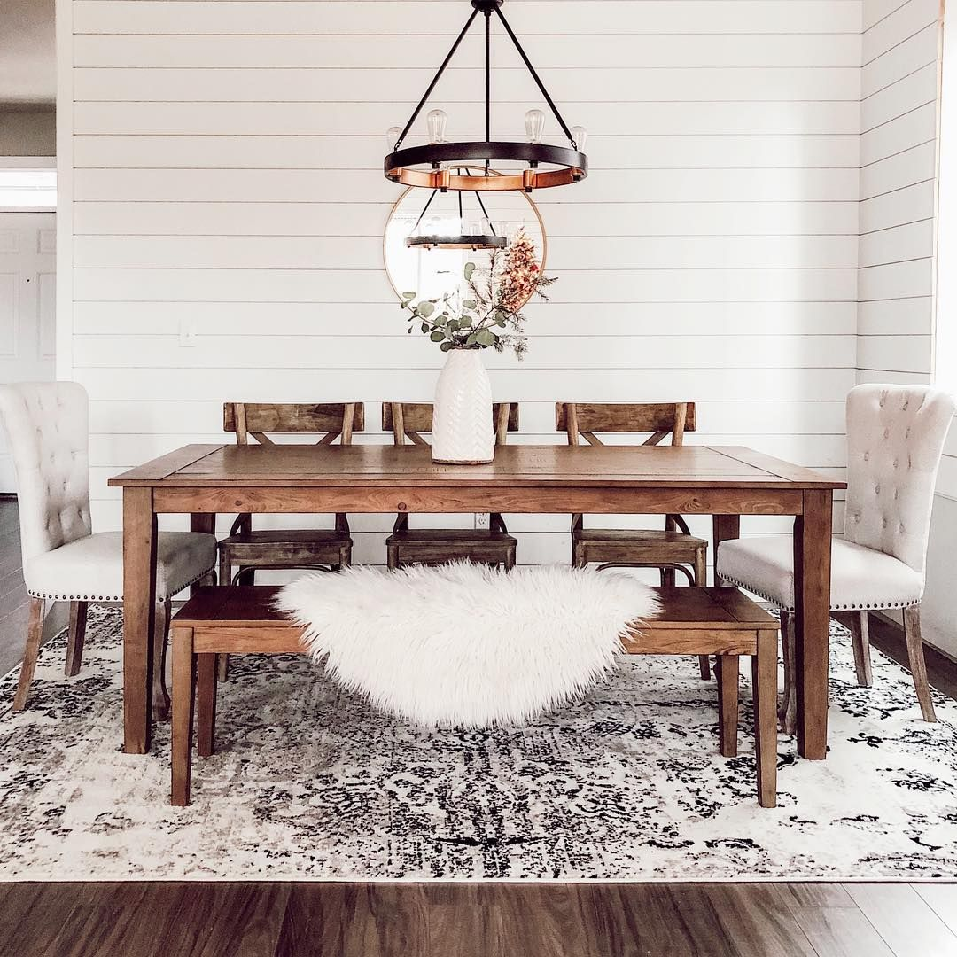 Sorry White Kitchens And Barn Doors You Re Getting Kicked To The Curb Farmhouse Dining Room Rug Modern Farmhouse Dining Room Farmhouse Dining Room