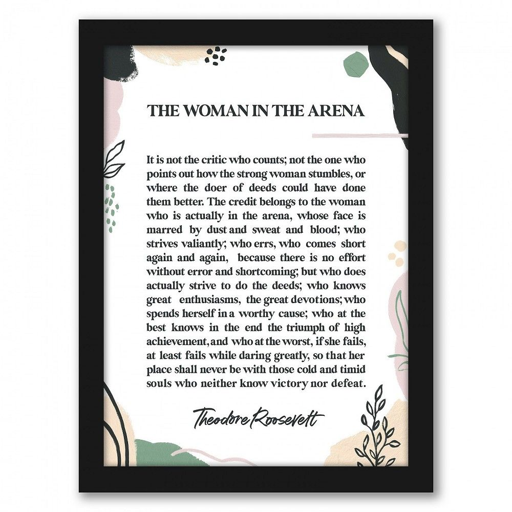 Americanflat - Woman In The Arena by Elena David - Black Frame 18