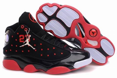 Air Jordan 13 New Style Bright Black Red White Retro Shoes