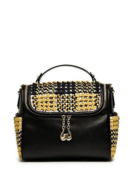 Black Casual Zipper Nylon Satchel #women #fashion #style #accessories #bags #handbags #beads #black #satchel #purse ##