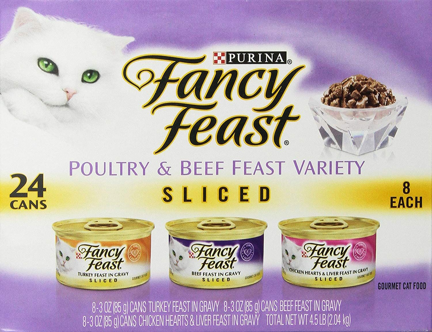 Purina Fancy Feast Sliced Poultry and Beef Variety Pack