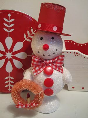 Paper clay snowmen diy paper clay pinterest snowman for Foam sheet christmas crafts