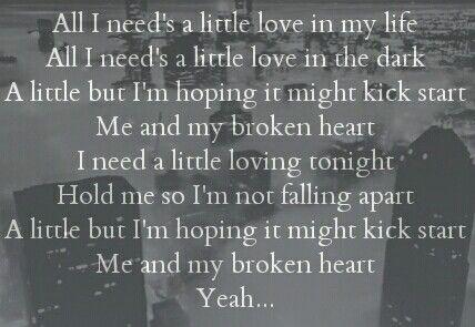 Me And My Broken Heart Rixton Lyrics To Live By Broken Heart Lyrics Song Quotes
