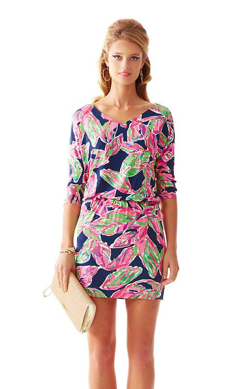 138989e8d584b9 If you're looking for the perfect day-to-night dress, the Cara can't be  beat. This printed long sleeve v-neck dress has a fitted skirt that shows  off your ...