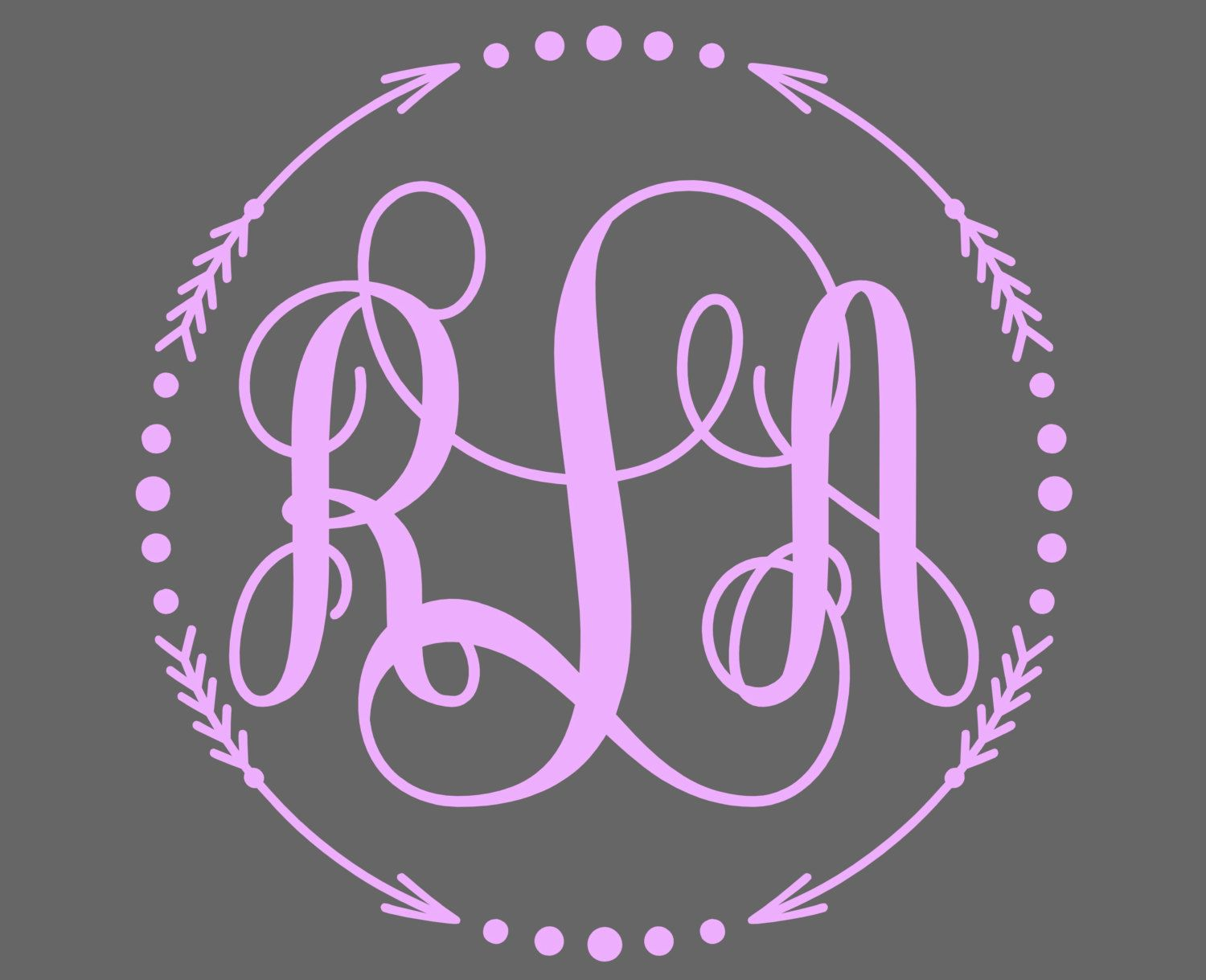 Monogram Decal Monogram Sticker For Your Car Window Cell Phone - Monogram decal on car