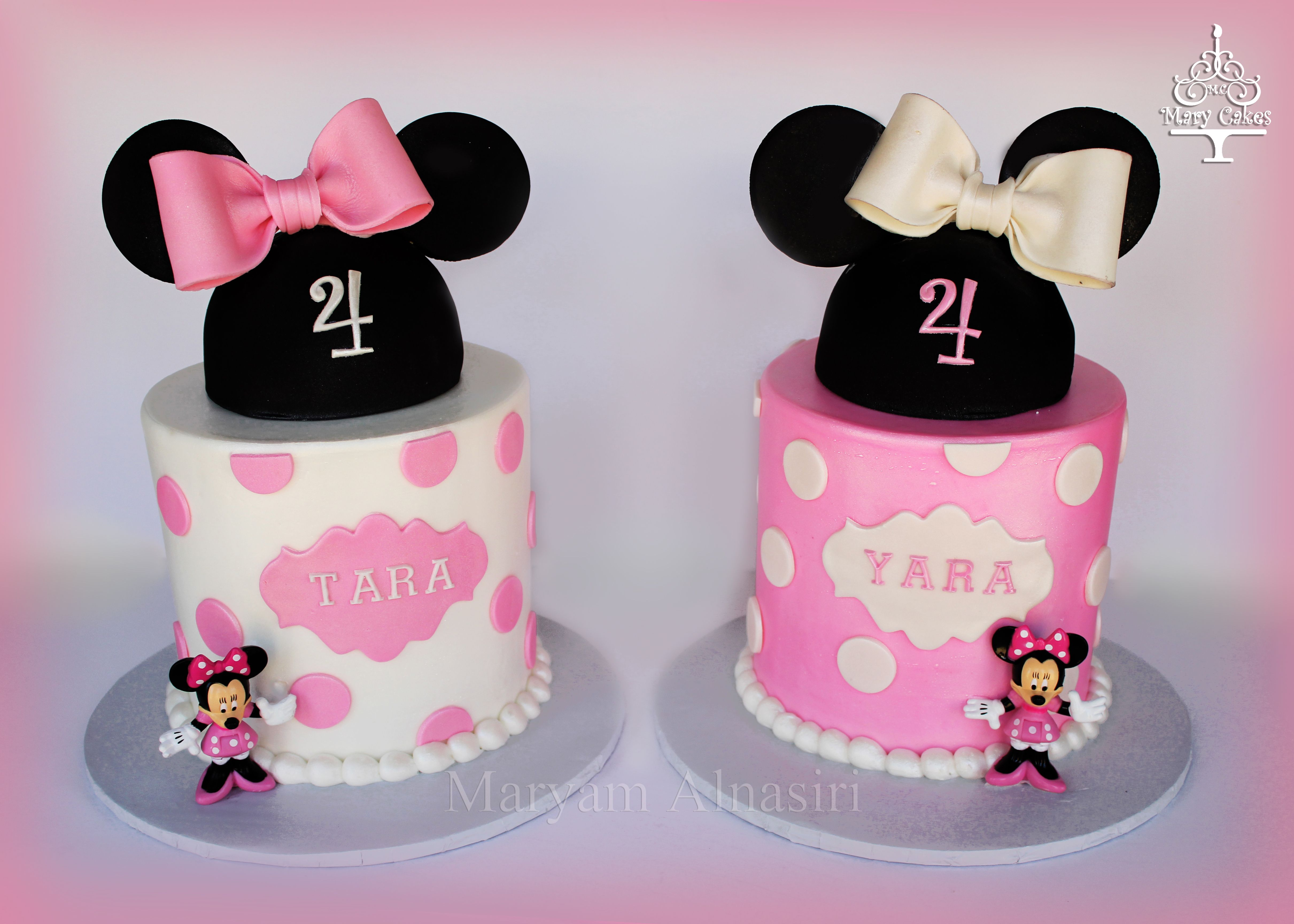 Minnie mouse cake for twin sisters By Mary Cakes Maryams