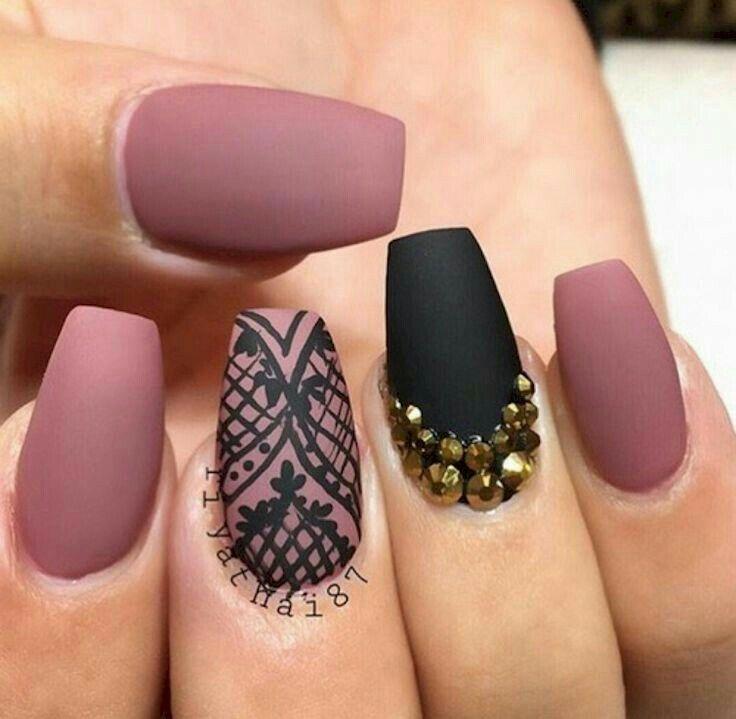 Nails rosa palo mate | uñas | Pinterest | Diseños de uñas, Uñas ...