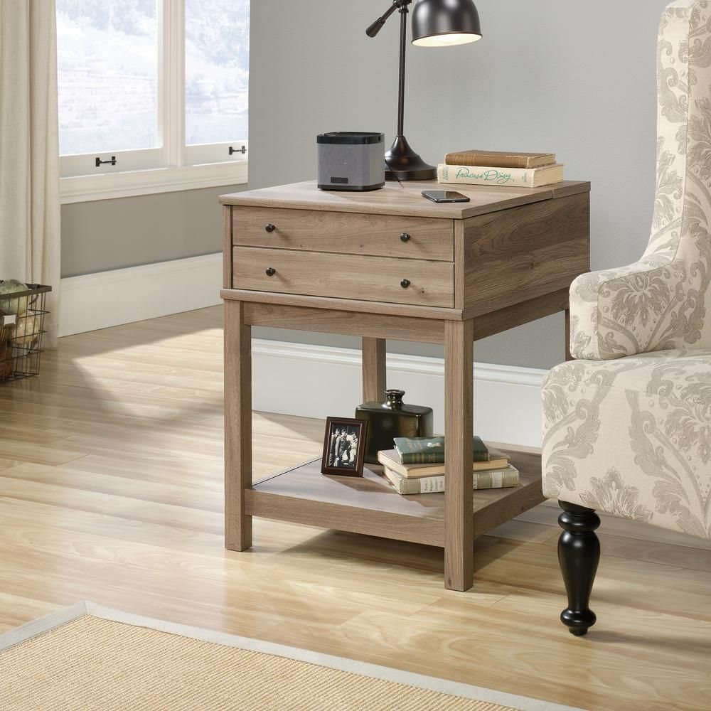SAUDER Barrister Lane Salt Oak SmartCenter Side Table