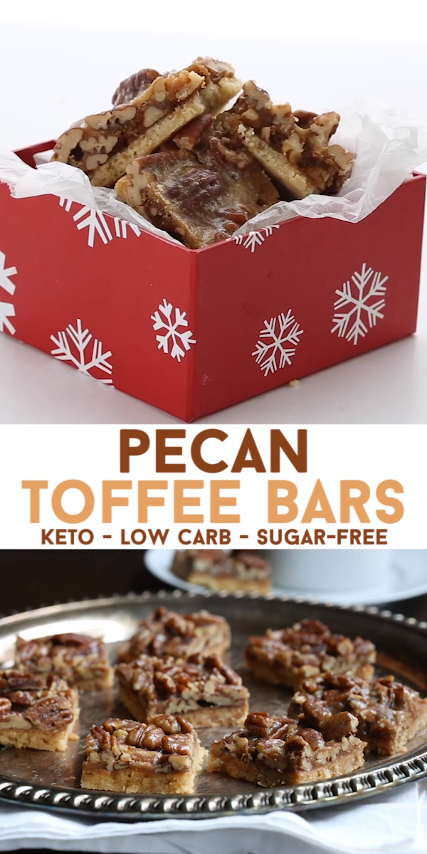 Photo of Keto Pecan Toffee Bars