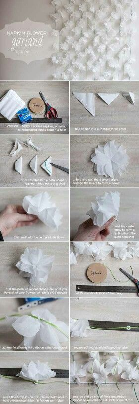 DIY wedding garland -- possibly for the photobooth?