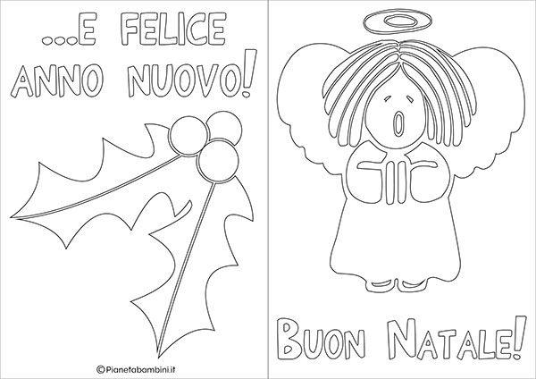 20 Biglietti Di Natale Da Colorare Per Bambini χριστούγεννα Viola