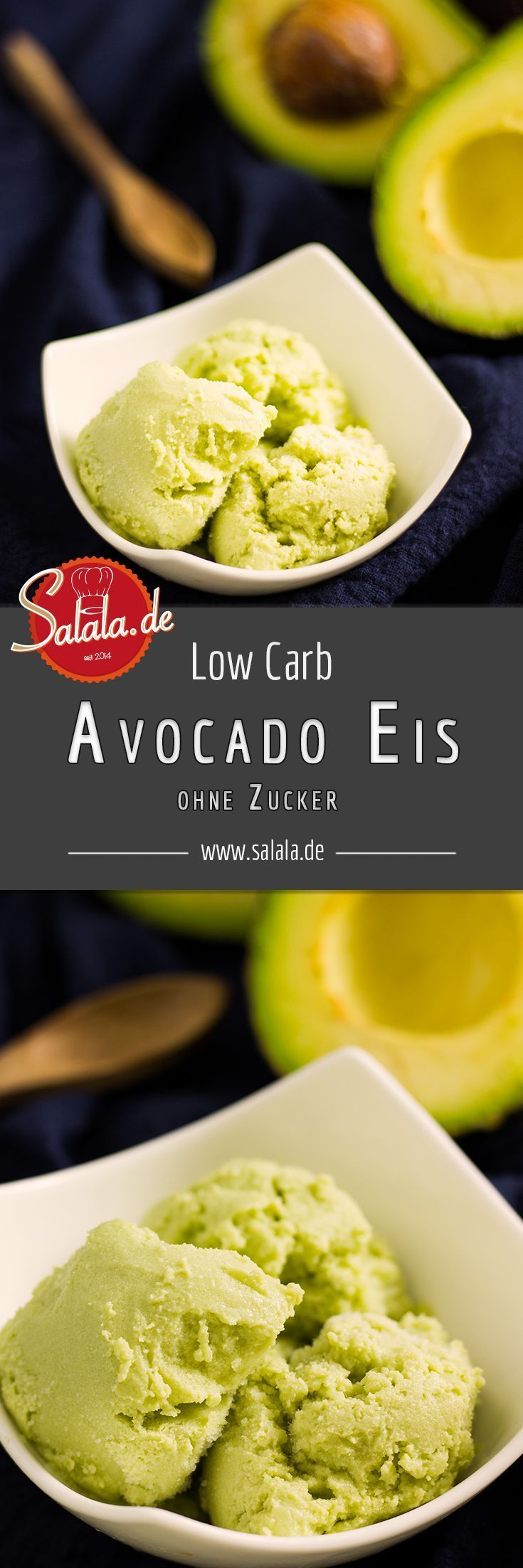 Zuckerfreies kohlenhydratarmes Avocado-Eis   - Low Carb Dessert // Low Carb Nachtisch -
